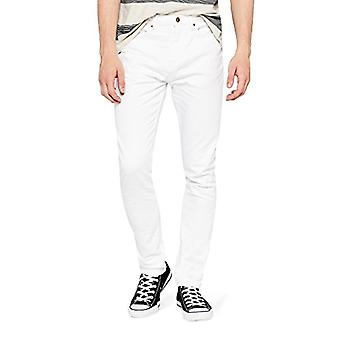 Encontrar. Standard Men's Slim Fit Jeans, Blanco, W29 x L30