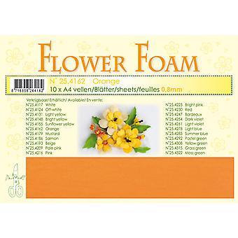 Leane Creatief Hojas de Espuma flor A4 Naranja