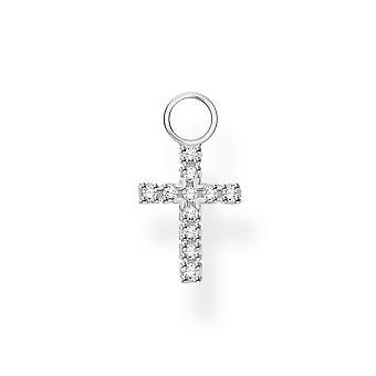 Thomas Sabo Charm Club Silver Cross Earring Pendant EP001-051-14
