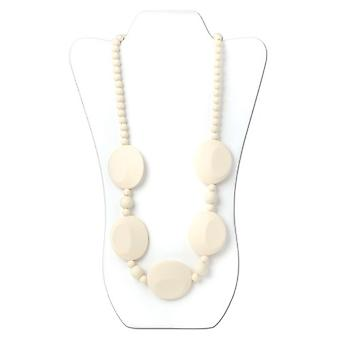 Pietra Silicone Teething Necklace - Bumkin - Navajo White New SJP-NWHT