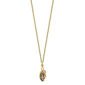 10k Tri Farbe Black Hills Gold mystische Topas Halskette 18 Zoll Schmuck Geschenke für Frauen