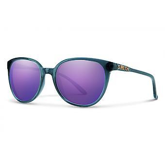 Zonnebril Unisex Cheetah kristal blauw/violet