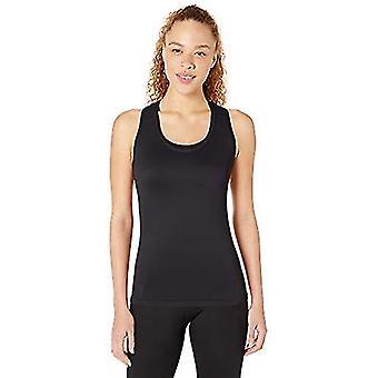 Brand - Core 10 Women's Seamless Mesh Workout Racerback Tank, Black, X...