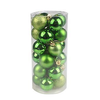 يانغفان البلاستيك عيد الميلاد زخرفة الملونة الكرة