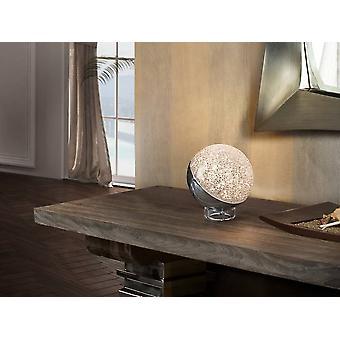 Integreret LED bordlampe poleret krom