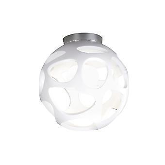 Sufit 1 Light E27, biały połysk, polerowany chrom