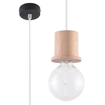 Sollux - 1 licht eenvoudig plafond hanger natuurlijk hout, E27