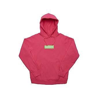 Supreme Box Logo Kapuzen Sweatshirt (Fw17) Magenta - Kleidung