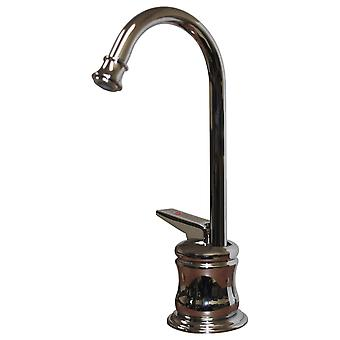 Point Of Use Instant Hot Water Faucet With Gooseneck Spout And Self Closing Handle - Polished Chrome