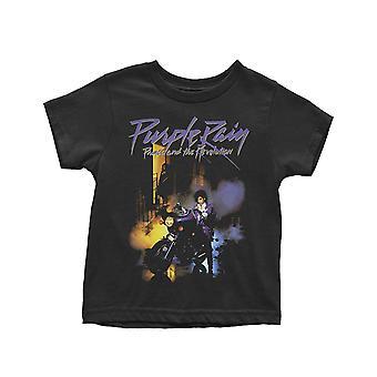Prince Kisgyermek Póló Purple Rain Logo új hivatalos fekete 12 hónaptól 5 évig