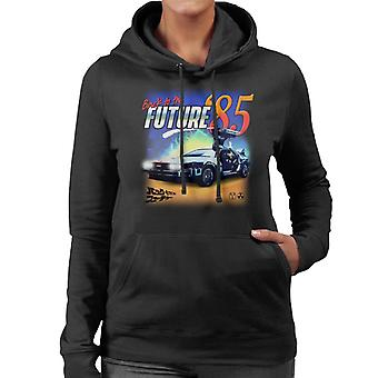 Back to the Future Delorean 85 Electric Charge Women's Hooded Sweatshirt