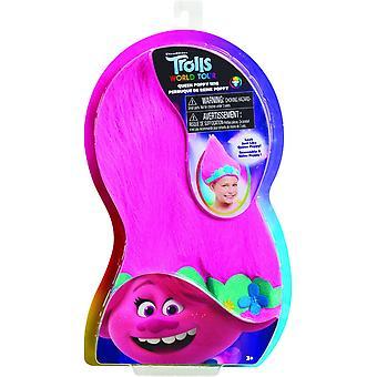 Trolls World Tour Trollific Wig - Poppy with Crown Kids Toy