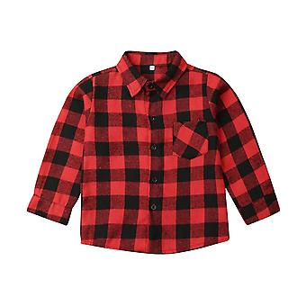 Toddler Baby, Clothes Plaid Top, Shirt, Coat, Jacket Outwear