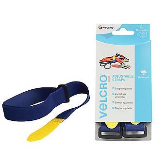 VELCRO Brand VELCRO Brand Adjustable Straps (2) 25mm x 46cm Blue VEL60328