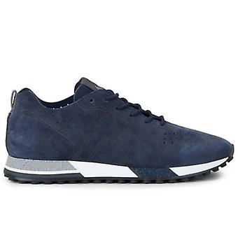 Mænds Sneakers Hogan H383 Blå Ruskind