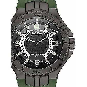 Reloj masculino militar suizo Hanowa 06-4327.13.007.06, cuarzo, 45 mm, 5ATM