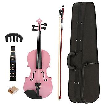 Handmade Matte Violin With Bow And Rosin For Beginners