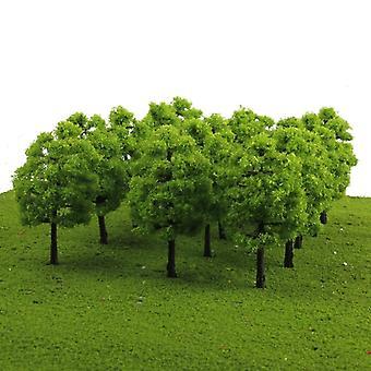 1/100 Schaal Mini Plastic Model Bomen TreinSpoorweg Landschap Huis Klaslokaal