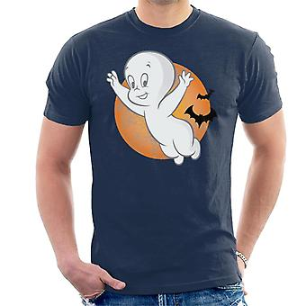 Casper The Friendly Ghost Moon Flying Men's T-Shirt