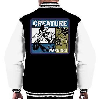 A criatura da lagoa negra nada em seu próprio risco Men's Varsity Jacket