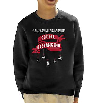 Pretend No One Came To Your Xmas Party Because Of Social Distancing Kid's Sweatshirt