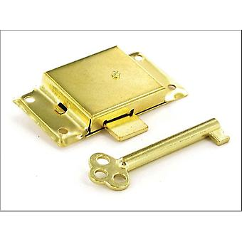 Securit Cupboard Lock 2 Keyed Brass Plated 63mm S1672