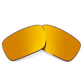 عدسات استبدال ل Oakley كراني عمود النظارات الشمسية المضادة للخدش الذهب مرآة