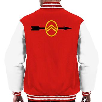 Citro?n 1922 Badge Black Arrow Logo Men's Varsity Jacket