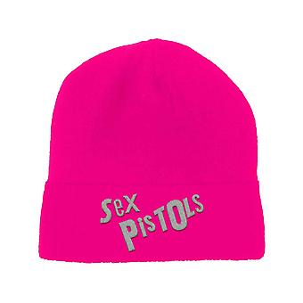 Sex Pistols Beanie Hat Classic Band Logo new Official PUNK Fluorescent Pink