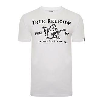 True religion men's white chad core buddha logo t-shirt