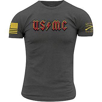 Grunt Style USMC - Rock T-paita - Harmaa