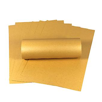 10 Sheets A4 Amber Iridescent Sparkle Card Quality 300gsm