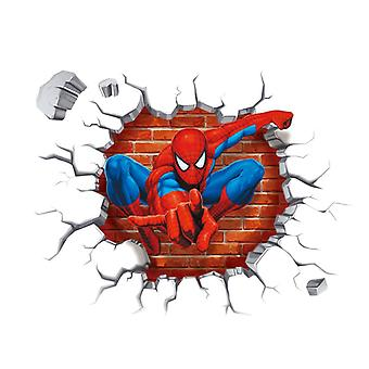 3d Effect Hero Spiderman Wall Stickers - Rooms, Home, Wall Decals Pvc Poster