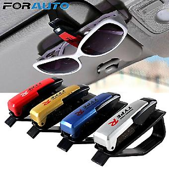 Universal Car Glasses Cases, Ticket Card, Clamp, Portable Eyeglasses Clip