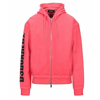 Dsquared2 New Dan Fit Arm Logo Red Hoodie