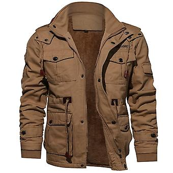 Men's Winter Fleece Inner Coats Thick Warm Casual Parkas Outwear Jackets