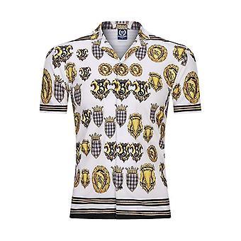 الرجال بيتش قميص عارضة المطبوعة الصيف قصيرة الأكمام فضفاضة ملابس الشوارع