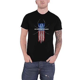 My Chemical Romance T Shirt Spider Band Logo new Official Mens Black