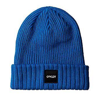 Oakley Ribbed Beanie Unisex Logo Winter Hat Blue 912008 670