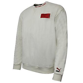 Puma Culture Maker Mens Crew Sweatshirt Logo Cream Jumper 597910 68