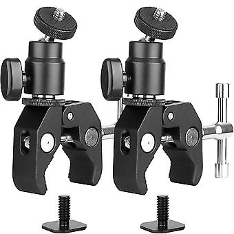 2Pack chromlives camera clamp mount ball head monitor clamp - super clamp and mini ball head hot sho