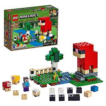 Lego 21153 minecraft villa maatila seikkailut lammashahmot ja Steve minihahmo rakennus setti