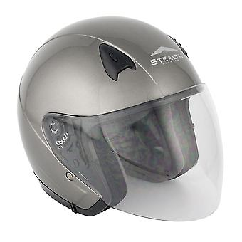 Stealth NT200  Adult Open Face Helmet - Gunmetal