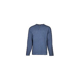 Replika Jeans Tall Fit Long Sleeve Grandad T-Shirt