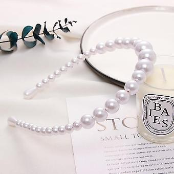 New Women Elegant Full Pearls Simple &sweet Headband Hair Hoops Holder Ornament