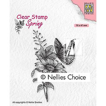 Nellie's Choice Clear Stamp - Butterfly 75x47mm