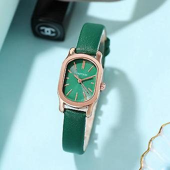 GADYSON A0Q16 Oval Little Dial Women Wrist Watch PU Leather Band Quartz Watch