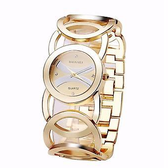 BAOSAILI BSL089 Fashion Luksus Krystal guld farve kjole armbåndsur til kvinder la