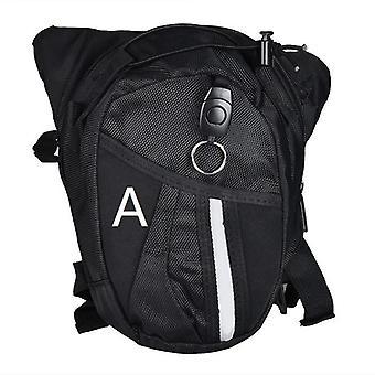 Optional Nylon Polyester Black Drop Leg Motorcycle Bicycle Fanny Pack Belt Bag