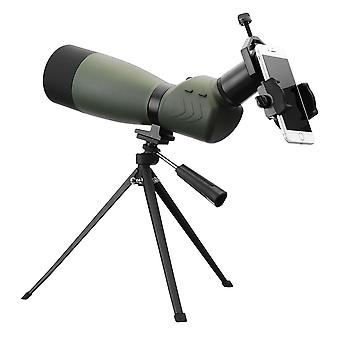 25-75x70 Outdoor Zoom Monocular HD Optic Bird Spotting Telescope With Tripod Phone Holder